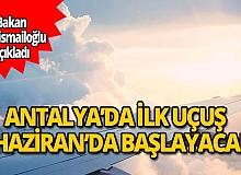 Bakan Karaismailoğlu açıkladı: İç hat uçuşları 1 Haziran'da başlıyor