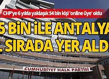 CHP'ye 6 yılda yaklaşık 54 bin kişi 'online üye' oldu