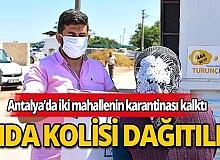 Karantinadan çıkan mahalleliye  Muratpaşa Belediyesi'nden destek