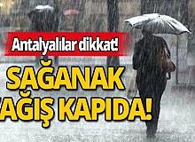 Meteoroloji'den Antalya için sağanak yağış uyarısı