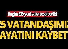 Türkiye'de son 24 saatte 25 kişi hayatını kaybetti