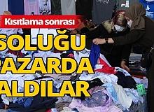Yasak sonrası Antalya semt pazarlarında yoğunluk