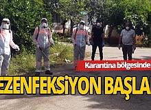 Zeytinköy'de dezenfeksiyon başladı