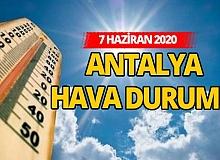 7 Haziran 2020 Pazar günü Antalya'da hava nasıl olacak?