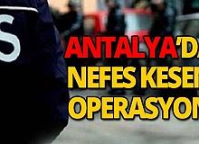 Antalya'da uyuşturucu operasyonu: 9 gözaltı