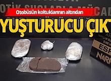 Antalya otobüs terminalinde uyuşturucu ele geçirildi