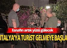 Antalya'ya ilk turistler gelmeye başladı