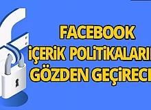 Facebook, tepkiler üzerine 'içerik politikalarını' gözden geçirecek