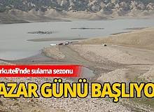 Korkuteli barajından Pazar günü su verilmeye başlanıyor