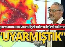 Naci Görür'den Malatya'daki depremle ilgili ilk değerlendirme: Uyarmıştık