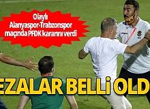 Olaylı Alanyaspor-Trabzonspor maçında cezalar açıklandı
