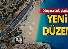 Turkuaz renkli Kaputaş plajı kapılarını ziyaretçilere açtı