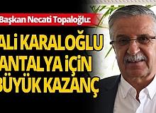 Vali Karaloğlu'dan Başkan Topaloğlu'na teşekkür