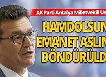 AK Parti Antalya Milletvekili Atay Uslu Ayasofya'nın ibadete açılmasını değerlendirdi