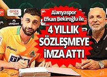 Alanyaspor, Efkan Bekiroğlu ile sözleşme imzaladı