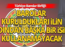 Antalya Flaş Haberine göre; Türkiye Barolar Birliği'nden önemli açıklama!