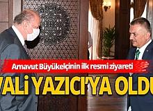 Antalya Haberi: Arnavut Büyükelçisinden Vali Ersin Yazıcı'ya ziyaret