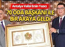 Antalya Son Dakika Haberi: ValiErsin Yazıcı, AESOB'da 75 oda başkanıyla bir araya geldi