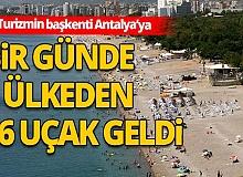 Antalya'yı, bir haftada 27 bin 83 yabancı turist ziyaret etti