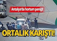Antalya'da hortum toptancı halinde ortalığı birbirine kattı