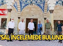 Başkan Uysal, Burdurlu Hasan Dikici Camii'nde incelemelerde bulundu