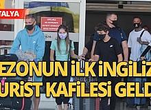 Çoğunluğu ailelerden oluşan 189 yolcu, İngiltere'nin Manchester kentinden Antalya'ya indi
