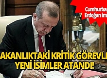 Cumhurbaşkanı Erdoğan'ın imzasıyla 3 bakanlıktaki kritik görevlere yeni isimler getirildi