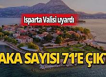 """Isparta Valisi Seymenoğlu: """"8'e kadar düşen vaka sayısı bugün 71'e çıktı"""""""