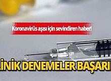 Kovid-19 aşı adayının birinci aşama klinik denemelerinden olumlu sonuç alındı