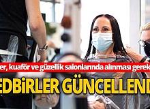 Sağlık Bakanlığı berber, kuaför ve güzellik salonlarında alınması gereken tedbirler güncellendi
