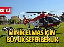 Son dakika Korkuteli haberi: Hava ambulansı havale geçiren minik Elmas için havalandı