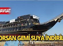 Son dakika Manavgat haberi: Dünyanın en büyük korsan teknesi Manavgat'ta yapılarak suya indirildi