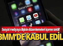 Sosyal medyaya ilişkin düzenlemeleri içeren teklif TBMM Genel Kurulunda kabul edildi
