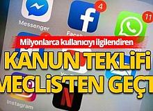 Sosyal medyaya ilişkin kanun teklifi Meclis Adalet Komisyonu'nda kabul edildi