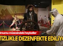 Antalya Haber: Balmumu müzesi dezenfekte ediliyor