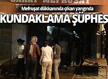 Antalya'da çeyizlik eşya dükkanında yangın çıktı