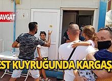 Antalya'da korona virüs testi kuyruğu