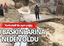 Antalya Haber: Aşırı yağış su baskınlarına neden oldu