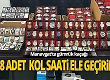 Antalya Manavgat haber: Gümrük kaçağı kol saatleri ele geçirildi
