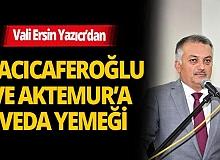 Antalya Valisi Ersin Yazıcı'dan yeni görev yerlerine atanan isimlere veda yemeği