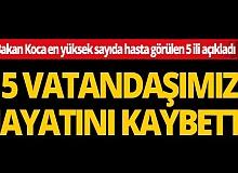 Bakan Fahrettin Koca son 3 gün içinde en yüksek sayıda hasta görülen 5 ili açıkladı
