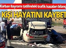 Bayram kimilerine zehir oldu! Trafik kazaların acı tablosu netleşti