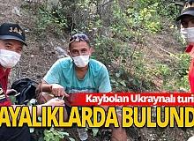 Kemer haber: Ukraynalı turist, sarp kayalıklarda bulundu