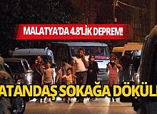 Malatya'da 4.8 büyüklüğünde deprem