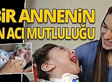 Oğlunun ağlamasıyla uyanan anne, sevinç gözyaşlarını tutamadı