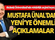 Rektör Mustafa Ünal'dan Mevlüt Yeni'ye önemli açıklamalar...