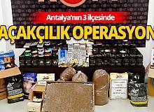 Son dakika Antalya haber: Polisinden kaçakçılık operasyonu