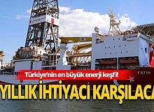 Son Dakika: Fatih sondaj gemisi Karadeniz'de 320 milyar metreküp doğal gaz rezervi buldu