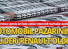 Temmuz ayında en fazla satılan otomobil markaları açıklandı