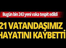 Türkiye'de Kovid-19 tedavisi tamamlananların sayısı 228 bin 57 oldu